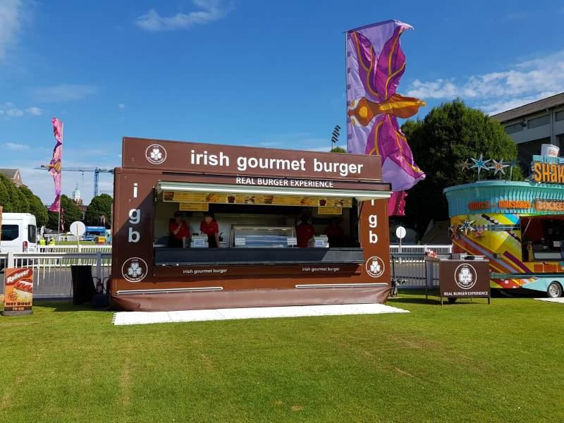 Irish Gourmet Burger| Sizzle mobile catering units